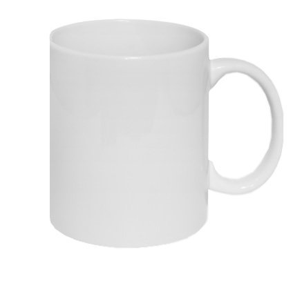White sublimation cup with print