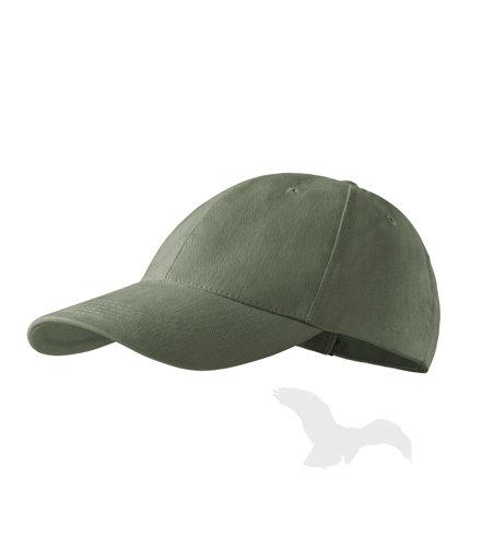 Sešu paneļu cepure ar apdruku