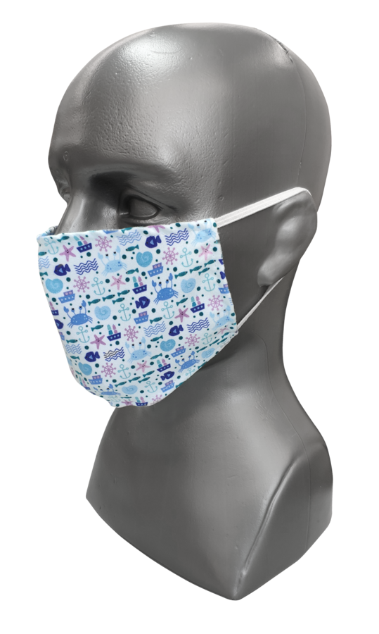 Face mask with print